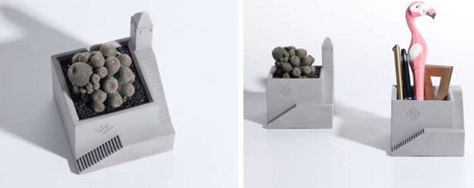 Handmade Concrete Succulent Planter/Ashtray