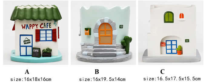 Handmade House Shaped Succulent Planter /Flower Pot