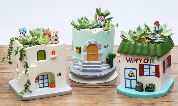Handmade House Shaped Succulent Planter Flower Pot Feelgift