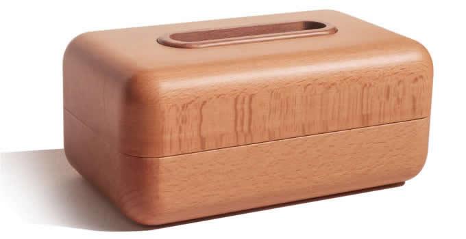 Handmade Wood Rectangular Tissue Box Cover Paper Dispenser