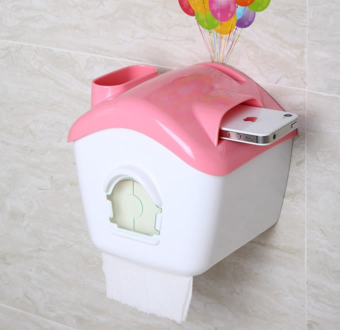 House Shaped Tissue Box, Cell Phone Holder