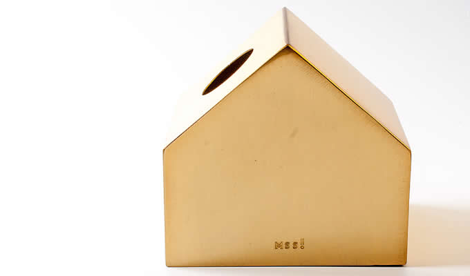 Metal House-Shaped Tissue Box Tissue Holder Cover