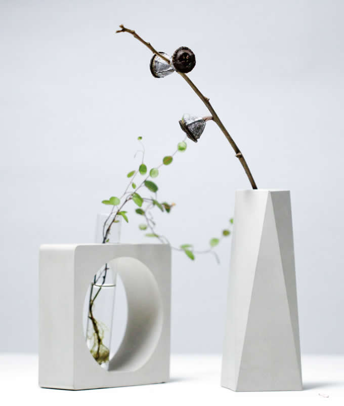 Modern Concrete Vase Feelgift