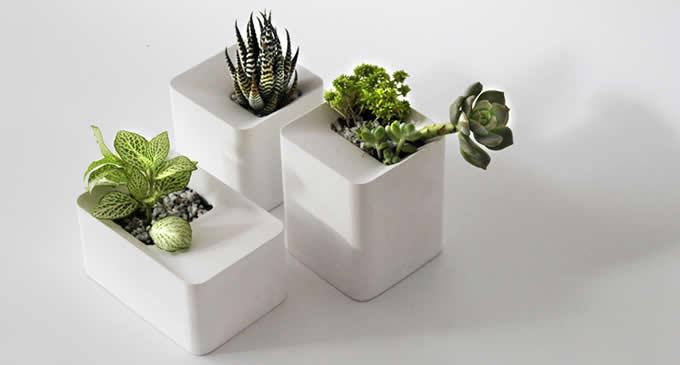 Modern Geometric Concrete Succulent Planter Plant Pot