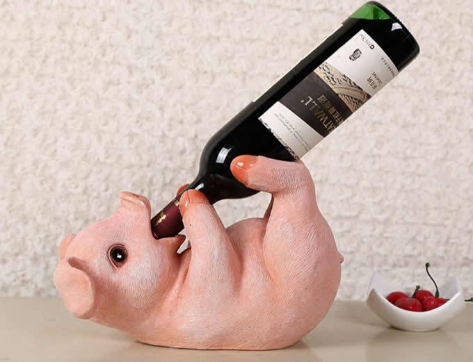 Pig Wine Bottle Holder
