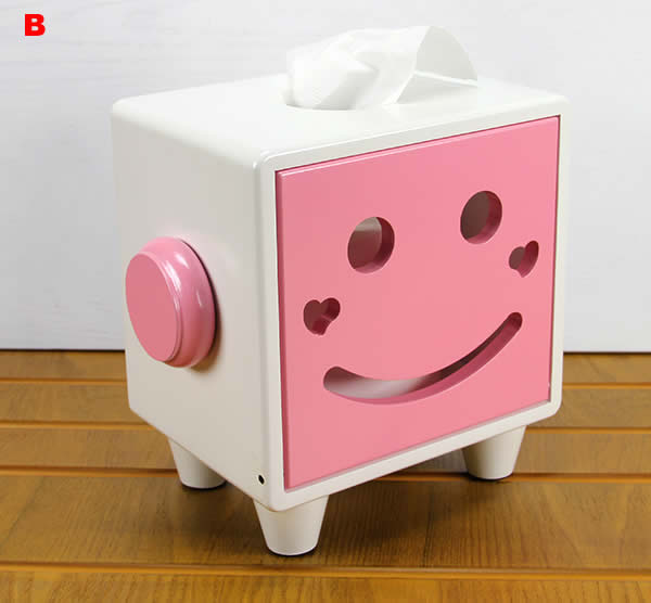 (Pink) Smiley Face Tissue Box