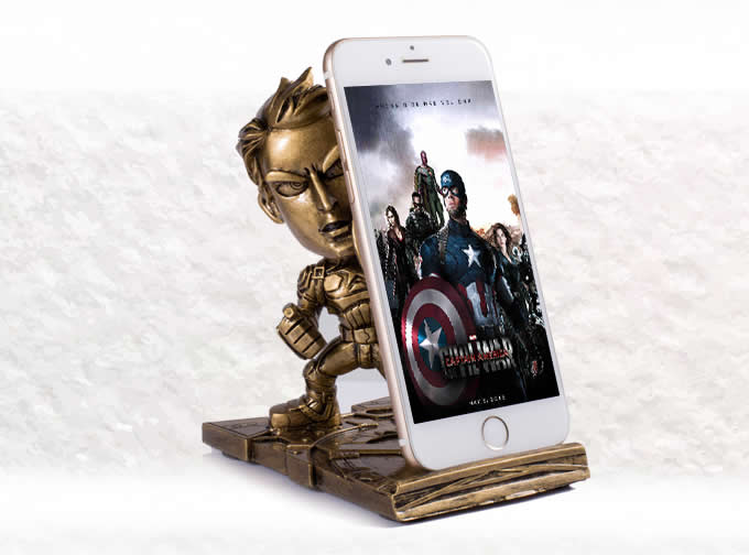 Portable Captain America Desk Cell Phone Stand Holder