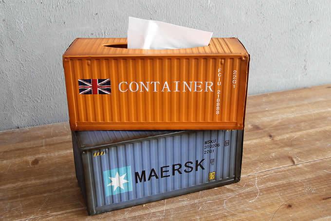 Retro Shipping Container Tissue Box