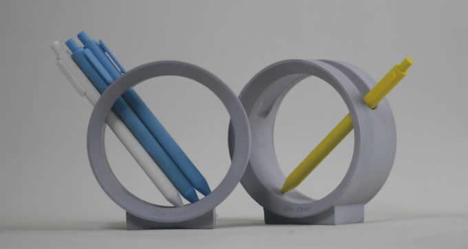 Round Concrete Pen Holder