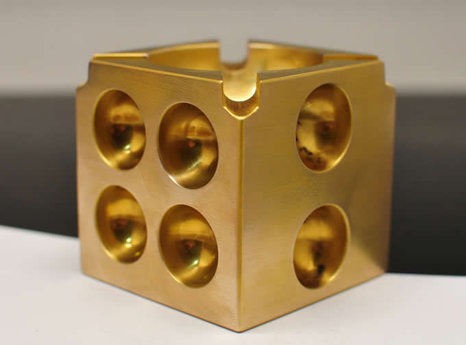 Solid Brass Dice Ashtray