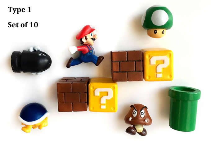 Super Mary Fridge Magnets Set