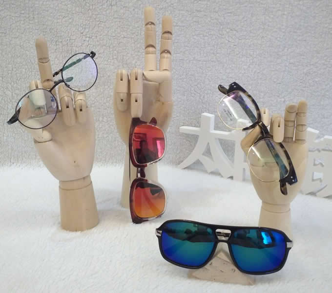 Wooden Hand Form Sunglasses Glasses Holder / Spectacle Display Stand   Bracelet Display