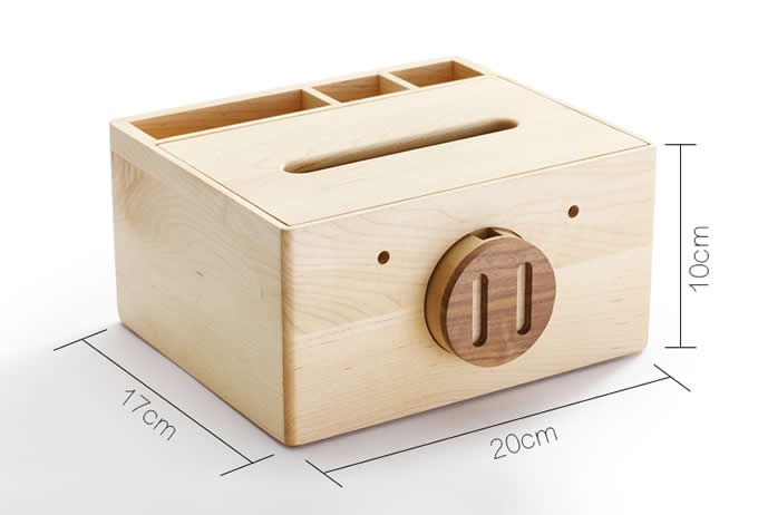 Wooden Square Pig Face Tissue Box