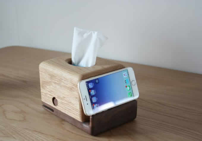 Smart Car Kits >> Wooden Whale Tissue Box Mobile Phone Display Stand - FeelGift