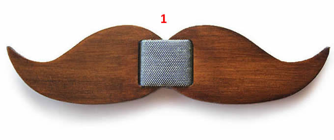 Adjustable Classic Wooden Bow Tie