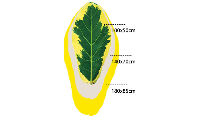 Leaf Shaped Area Floor Mat/Rug - Mulberry Leaf