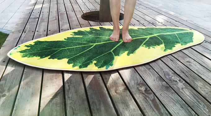 Leaf Shaped Area Floor Mat/Rug - Mulberry Leaf
