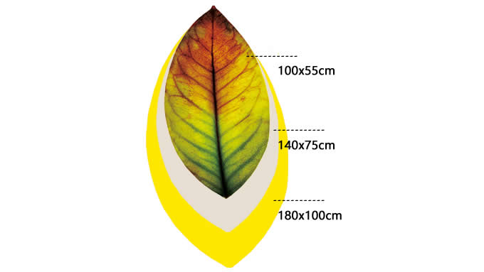 Leaf Shaped Area Floor Mat/Rug - Red Leaf