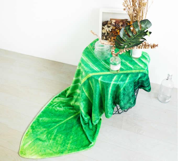Leaf shape Soft Air Conditioning Blanket- Phrynium Leaf