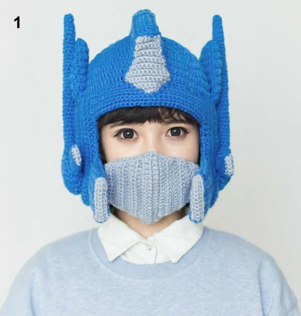 Crochet Pattern For Optimus Prime Hat : Optimus Prime Crochet Hat - FeelGift