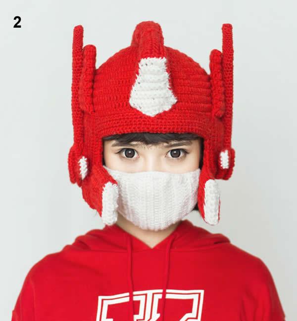 optimus prime crochet hat feelgift