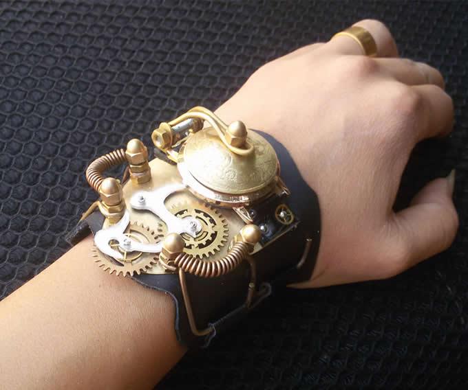 Steampunk Gear Wristwatch
