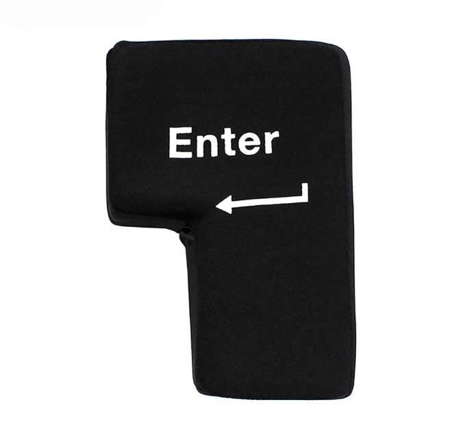 Big Enter Key Throw Pillow Toys