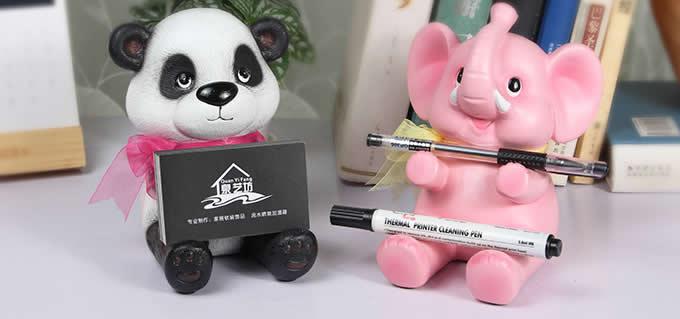 Resin Animal Mobile Holder Cell Phone Stand Pen Pencil Holder Piggy Bank
