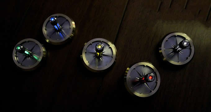 Tritium Nite Self-Luminous Inception Movie Prop-Gyro