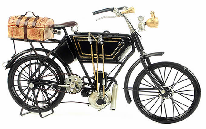 Handmade Antique Model Kit Car-1903 Adler motorcycle