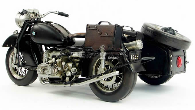 Handmade Antique Model Kit Car-1938 World War Two German Motorcycle R71