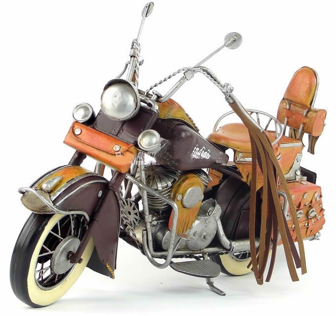 Handmade Antique Model Kit Car-1943 US Indian Motorcycle