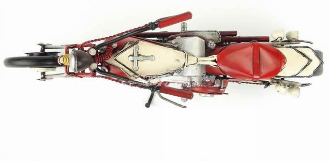Handmade Antique Model Kit Car-1948 Harley Motorcycle