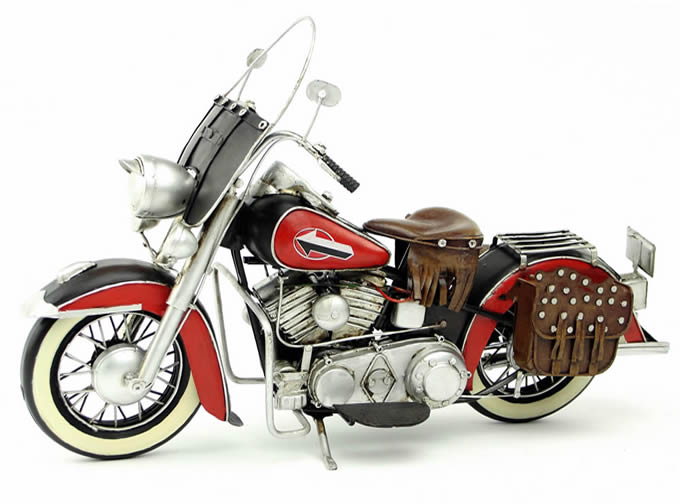 Handmade Antique Model Kit Car-1952 Harley FL Motorcycle
