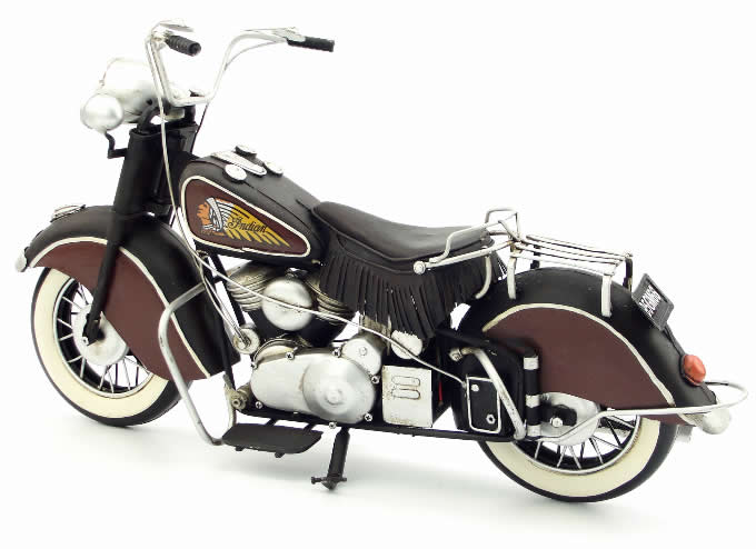 Handmade Antique Model Kit Motorcycle-1951 US Indian Motorcycle