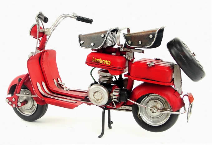 Handmade Antique Model Kit Motorcycle-1954 Lambretta  Motor Scooter