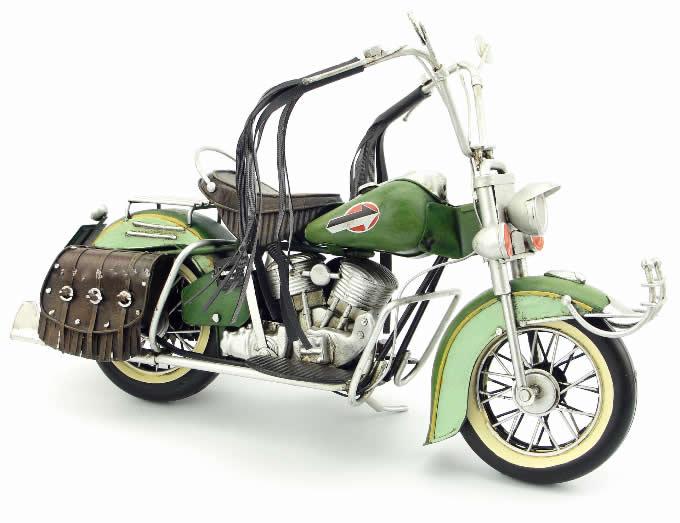 Handmade Antique Model Kit Motorcycle-1962 Harley Motorcycle