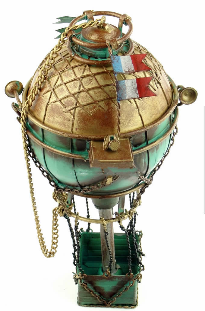 Handmade Antique Tin Model Other-18th Century France Hot Air Balloon