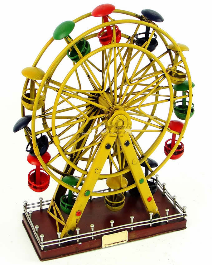 Handmade Antique Tin Model Other Ferris Wheel Feelgift