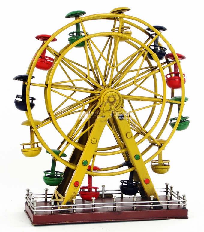 Handmade Antique Tin Model Other Ferris Wheel Feelgift