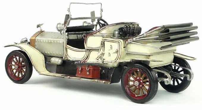 Handmade Antique Model Kit Car 1909 Rolls Royce Classic