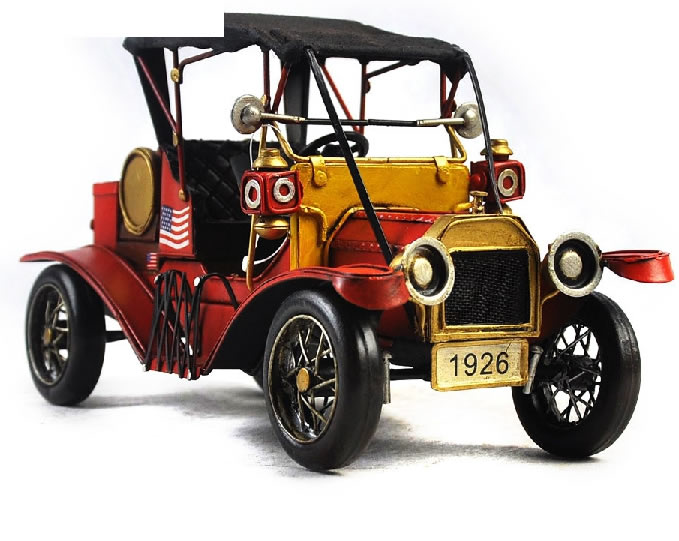 Handmade Antique Model Kit Car - 1911 Ford T  Sports Car