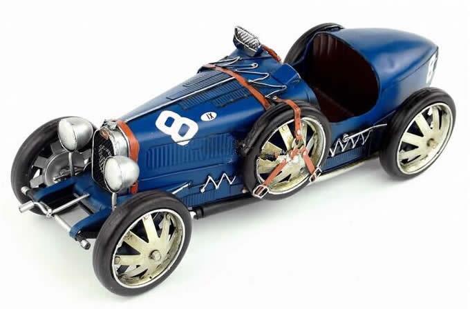 Handmade Antique Model Kit Car 1924 Bugatti Race Car Feelgift
