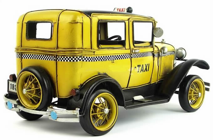 Handmade Antique Model Kit Car - 1931 Ford Taxi