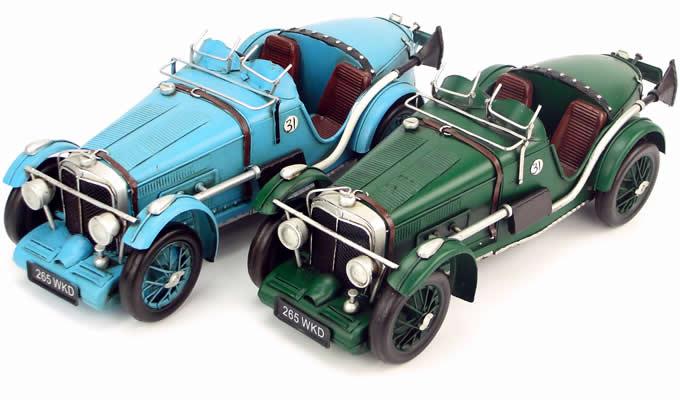 Handmade Antique Model Kit Car 1934 MG K3 Magnette Race Car