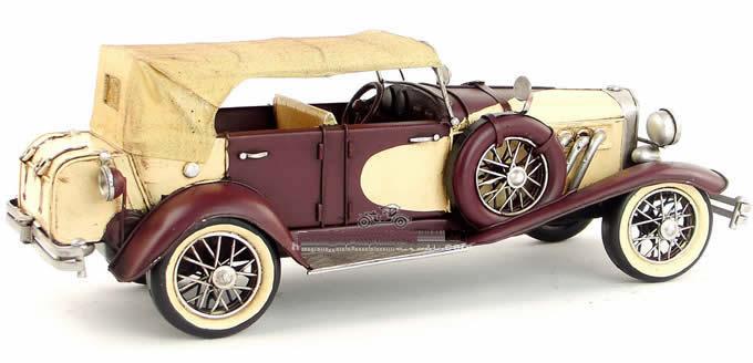 Handmade Antique Model Kit Car-1934 Duesenberg Classic Car Red