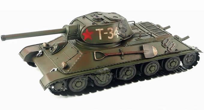 Handmade Antique Model Kit Car-1940 Russian T-34 Tank