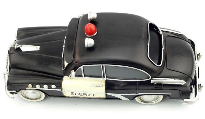 Handmade Antique Model Kit Car - Cartoon Police Car