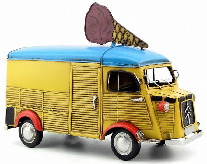 Handmade Antique Model Kit Car - Citroen Ice Cream Truck