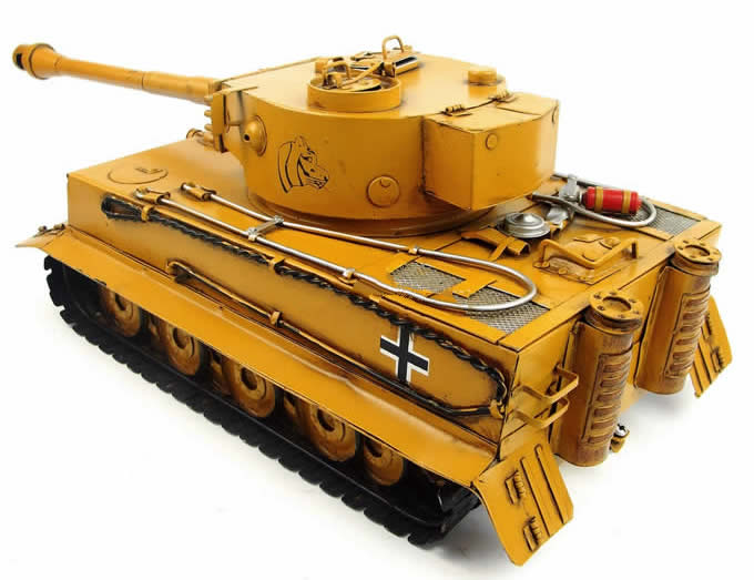 Handmade Antique Model Kit Car-World War Two Germany Tiger Tank